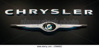 chrysler car logo. logo of the chrysler brand car on a dark background stock image g