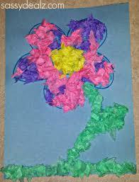 Paper Flower Crafts For Kindergarten Easy Tissue Paper Flower Craft For Kids Crafty Morning