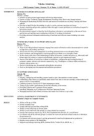 It Support Specialist Resume IT Support Specialist Resume Samples Velvet Jobs 1