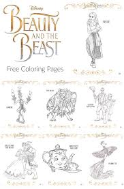 Small Picture Free Beauty And The Beast Coloring Pages The Suburban Mom