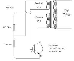 transistor driven high voltage flyback transformer page the circuit