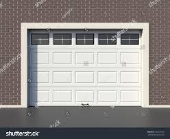 White Modern Garage Door Windows Stock Illustration 139109156 ...