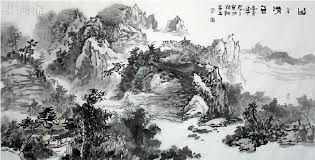 traditional chinese ink painting painting handmade china artwork famous landscape painting artists gift decoration in painting calligraphy from