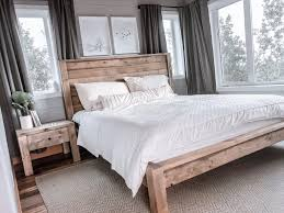 Homemade Wooden Bed Designs Modern Farmhouse Bed Frame Ana White