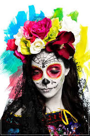mexican day of the dead skull makeup photo by edward de la torre