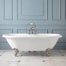 Audrey Acrylic Clawfoot Tub Imperial Feet Bathroom - Clawfoot tub bathroom