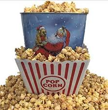 gourmet select holiday three flavored popcorn tin and bucket gift bundle image may vary