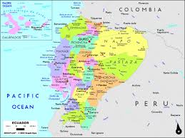 ecuador political wall map  mapscom