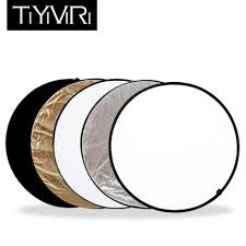 2019 whole 60cm 80cm 5 in 1 portable round light reflector handhold photo disc multi disc photography studio photo collapsible from jinggonginternet