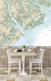 Nautical Chart Wall Mural Maps Charting A Course In Interior Design By Printology