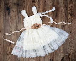 rustic lace flower girl dresses for