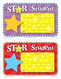 Star Student Certificates Star Student Printable Certificates Free National