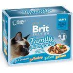 Купить <b>Паучи Brit Premium Family</b> Plate Gravy Chicken,Turkey,Beef ...