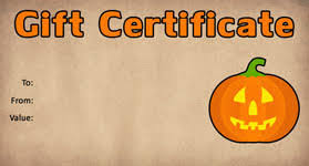 Halloween Gift Cards Halloween Gift Certificate Templates Gift Certificate