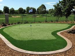 synthetic lawn mesa arizona how to build a putting green backyard designs