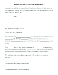 Reference Verification Form Work Certificate Template Demiks Co