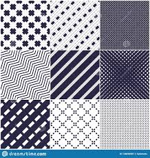 Simple Geometric Designs Minimal Lines Vector Seamless Patterns Set Abstract