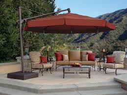 patio ft cantilever umbrella: shown with acrylic fabric in henna