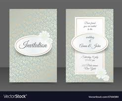 Vintage Wedding Invitation Vintage Wedding Invitation Templates Cover Design Vector Image