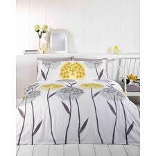 yellow dandelion king size duvet set