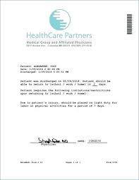 Free Printable Doctors Note For Work Pdf Doctors Note Template
