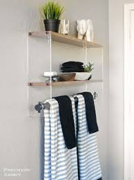 Bathroom Shelf Pneumatic Addict Wood And Acrylic Bathroom Shelf