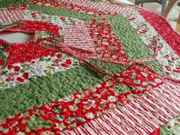 Christmas ~ Christmas Quilted Tree Skirt Pattern Close Up Of ... & Full Size of Christmas: Hjtreeskirtfinished18 Jpg Amy Made That By Eamylove  Have Holly Jolly Tree ... Adamdwight.com