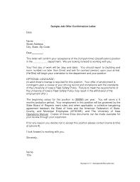 100 Job Offer Letter Sample Formal Letter Template 8 Best