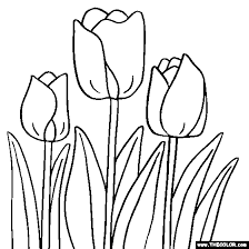 Small Picture Tulip Flower Coloring Page Tulip Coloring