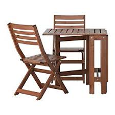 outdoor ikea furniture. Ikea ÄPPLARÖ Outdoor Wooden Folding Bistro Table And 2 Folding Chairs Outdoor Ikea Furniture O