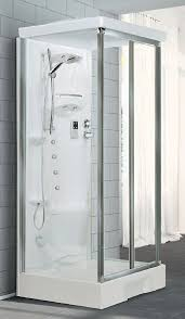 1000mm x 800mm mid wall shower enclosure pod leak free all in one shower pod