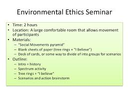 environmental ethics lesson plan environmental ethics