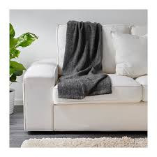 ikea gurli bed couch sofa lounge knee throw rug blanket 120x180cm in grey black