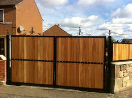 Timber And Wrought Iron Double Gates Windyknowe Fabrications