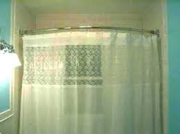 curved shower curtain rod installation height corner bath amazing bathrooms long instructions install how high to