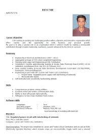 sample resume for freshers engineers electronics resume templates