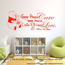 Details About Winnie The Pooh Wall Art Quote Sticker Nursery Piglet Pooh Loved Quote Decals