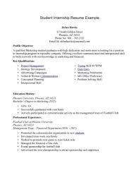 5 Cv Pattern For Internship Park Attendant Summer Resume Example
