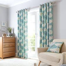 Teal Patterned Curtains Adorable Teal Patterned Curtains Lined Eyelet Bedroom Wordpressdayorg