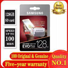 COD100 % Chính Hãng Thẻ Nhớ Samsung EVO Plus Micro SDXC 128GB Class 10 SDXC  U3, MB-MC128G Thẻ Micro SD SD/TF Flash MicroSD