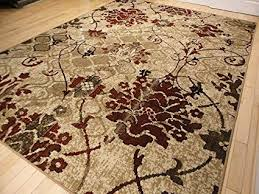 Image Unavailable Amazon.com: Modern Burgundy Rugs Living Dining Room Red Cream Beige