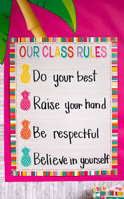 Tropical Punch Our Class Rules Chart Preschool Class Rules