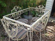 salterini outdoor furniture. Cozy Ideas Vintage Iron Patio Furniture Mid Century Set Woodard Salterini Era 40 S 50 Outdoor