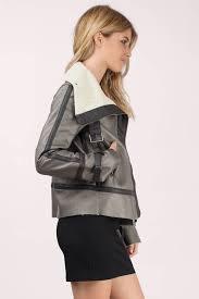 tobi faux fur coats grey mocha the lucky one coat