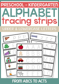 Letter Practicing Alphabet Tracing Strips