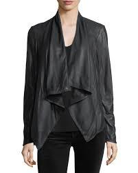 shawl collar dd front hot women s genuine soft lambskin leather biker jacket