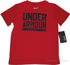 under armour shirts for boys. photo shirt little boys ua logo 5 red under armour 1.jpg shirts for