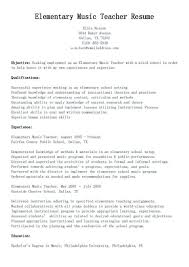 Objective For School Teacher Resume Sample Elementary School Teacher Resume 98