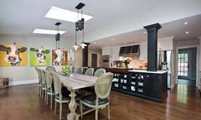 traditional modern living room furniture. Traditional Wood Furniture Combined With Modern Art On The Wall Dining Room Design - Mix Style Contemporary Accents Living