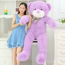 huge lovely plush purple teddy bear toy cute big eyes bow big stuffed teddy bear  doll gift about 160cm - buy at the price of $84.79 in aliexpress.com |  imall.com